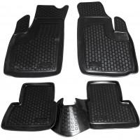 Коврики в салон для Fiat Doblo '01-09 полиуретановые, черные (L.Locker)
