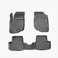 Коврики в салон для Peugeot 4007 '07-12 полиуретановые, черные (L.Locker)