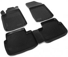 Коврики в салон для Peugeot 407 '04-10 полиуретановые, черные (L.Locker)