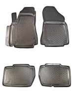 Коврики в салон для Peugeot Partner '08- полиуретановые, черные (L.Locker)