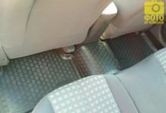 Фото 11 - Коврики в салон для Renault Megane '02-08 полиуретановые, черные (L.Locker)
