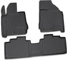 Коврики в салон для Cadillac SRX '04- полиуретановые, черные (Novline)
