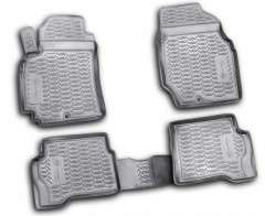 Коврики в салон для Nissan Almera Classic 06-13 полиуретановые, черные (Novline / Element) exp.999rmb10bl