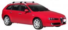 Багажник на рейлинги для Alfa Romeo 159 Sportswagon '05-11, до края опоры (Whispbar-Prorack)