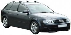 Багажник на рейлинги для Audi A4 Avant '00-05, до края опоры (Whispbar-Prorack)