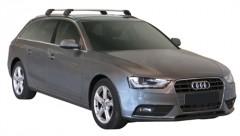 Багажник на низкие рейлинги для Audi A4 Avant '08-, до края опоры (Whispbar-Prorack)