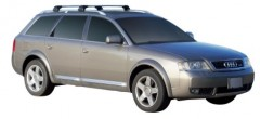 Багажник на рейлинги для Audi A6 Allroad '97-05, до края опоры (Whispbar-Prorack)