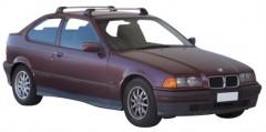 Багажник в штатные места для BMW 3 E36 Compact '90-99, до края опоры (Whispbar-Prorack)