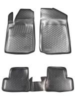 Коврики в салон для Citroen C3 '02-09 полиуретановые, черные (L.Locker)