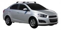 Багажник на крышу для Chevrolet Aveo T300 '11- седан, до края опоры (Whispbar-Prorack)