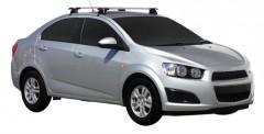 Багажник на крышу для Chevrolet Aveo T300 '11- седан, сквозной (Whispbar-Prorack)