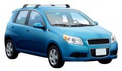 Багажник на крышу для Chevrolet Aveo T255 '08-11 хетчбэк, до края опоры (Whispbar-Prorack)