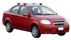 Багажник на крышу для Chevrolet Aveo T250 '06-11 седан, сквозной (Whispbar-Prorack)