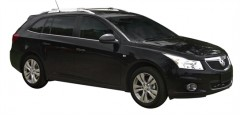 Багажник на рейлинги для Chevrolet Cruze '09- универсал, вровень рейлинга (Whispbar-Prorack)