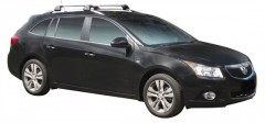 Багажник на рейлинги для Chevrolet Cruze '09- универсал, до края опоры (Whispbar-Prorack)