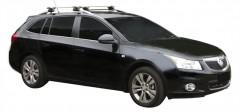 Багажник на рейлинги для Chevrolet Cruze '09- универсал, сквозной (Whispbar-Prorack)