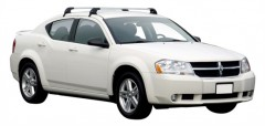 Багажник на крышу для Dodge Avenger '07-13, до края опоры (Whispbar-Prorack)