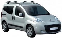 Багажник на рейлинги для Fiat Qubo '08-, сквозной (Whispbar-Prorack)
