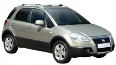 Багажник на рейлинги для Fiat Sedici '06-, вровень рейлинга (Whispbar-Prorack)