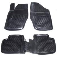 Коврики в салон для Citroen C4 '05-09 полиуретановые, черные (L.Locker)