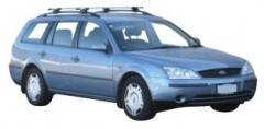 Багажник на рейлинги для Ford Mondeo '01-07 универсал, сквозной (Whispbar-Prorack)