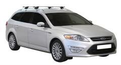 Багажник на рейлинги для Ford Mondeo '07-14 универсал, сквозной (Whispbar-Prorack)