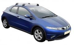 Багажник на крышу для Honda Civic 5D '06-12, до края опоры (Whispbar-Prorack)