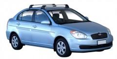 Багажник на крышу для Hyundai Accent '06-10 седан, до края опоры (Whispbar-Prorack)