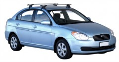 Багажник на крышу для Hyundai Accent '06-10 седан, сквозной (Whispbar-Prorack)
