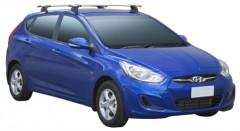 Багажник в штатные места для Hyundai Accent '11- хэтчбек, сквозной (Whispbar-Prorack)