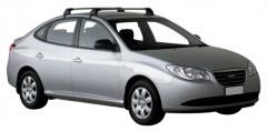 Багажник на крышу для Hyundai Elantra HD '06-10, до края опоры (Whispbar-Prorack)
