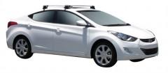 Багажник на крышу для Hyundai Elantra MD '11-15, сквозной (Whispbar-Prorack)