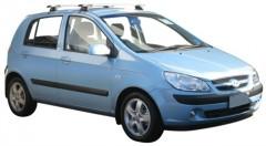 Багажник на крышу для Hyundai Getz '02-11, сквозной (Whispbar-Prorack)