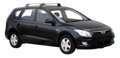 Багажник на крышу для Hyundai i30 FD '07-12 универсал, до края опоры (Whispbar-Prorack)