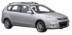 Багажник на рейлинги для Hyundai i30 FD '07-12 универсал, вровень рейлинга (Whispbar-Prorack)
