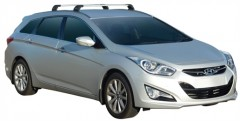 Багажник на рейлинги для Hyundai i40 Tourer '12-, до края опоры (Whispbar-Prorack)