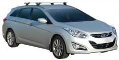 Багажник на рейлинги для Hyundai i40 Tourer '12-, сквозной (Whispbar-Prorack)