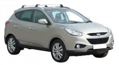 Багажник на низкие рейлинги для Hyundai ix-35 '10-15, до края опоры (Whispbar-Prorack)