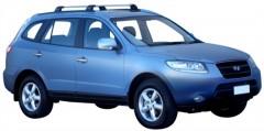 Багажник на рейлинги для Hyundai Santa Fe '06-10 CM, до края опоры (Whispbar-Prorack)