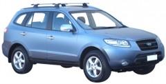 Багажник на рейлинги для Hyundai Santa Fe '06-10 CM, сквозной (Whispbar-Prorack)