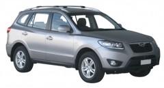 Багажник на рейлинги для Hyundai Santa Fe '10-12 CM, вровень рейлинга (Whispbar-Prorack)