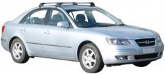 Багажник на крышу для Hyundai Sonata '05-10, до края опоры (Whispbar-Prorack)