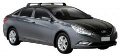 Багажник на крышу для Hyundai Sonata '10-15, до края опоры (Whispbar-Prorack)