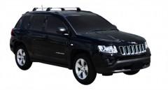 Багажник на низкие рейлинги для Jeep Compass '06-, до края опоры (Whispbar-Prorack)