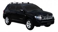 Багажник на низкие рейлинги для Jeep Compass '06-, сквозной (Whispbar-Prorack)