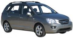 Багажник на рейлинги для Kia Carens '07-12, вровень рейлинга (Whispbar-Prorack)