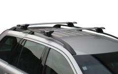 Багажник на рейлинги для Volkswagen Golf V '04-09 универсал, сквозной (Whispbar-Prorack)