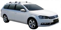 Багажник на рейлинги для Volkswagen Passat B7 '10-14 универсал, до края опоры (Whispbar-Prorack)