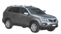 Багажник на рейлинги для Kia Sorento Panoramic '10-13 XM, вровень рейлинга (Whispbar-Prorack)