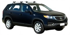 Багажник на рейлинги для Kia Sorento Panoramic '10-13 XM, сквозной (Whispbar-Prorack)